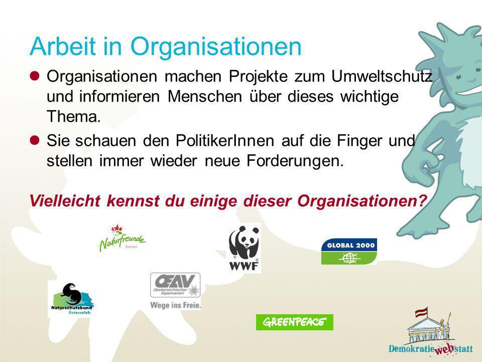 Arbeit in Organisationen