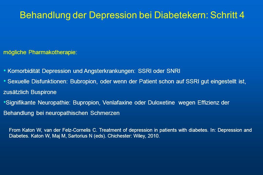 Behandlung der Depression bei Diabetekern: Schritt 4