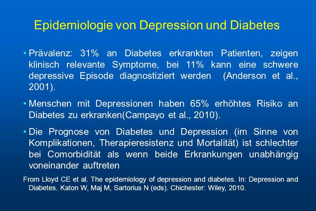 Epidemiologie von Depression und Diabetes