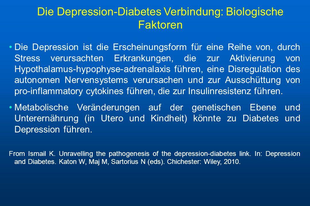 Die Depression-Diabetes Verbindung: Biologische Faktoren