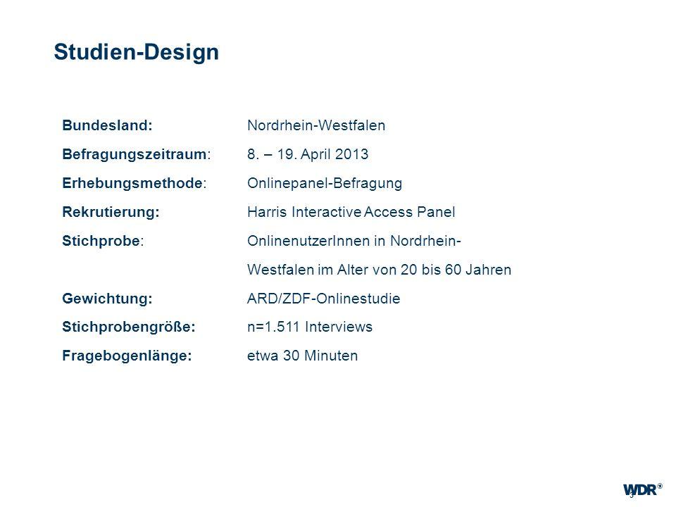 Studien-Design Bundesland: Nordrhein-Westfalen