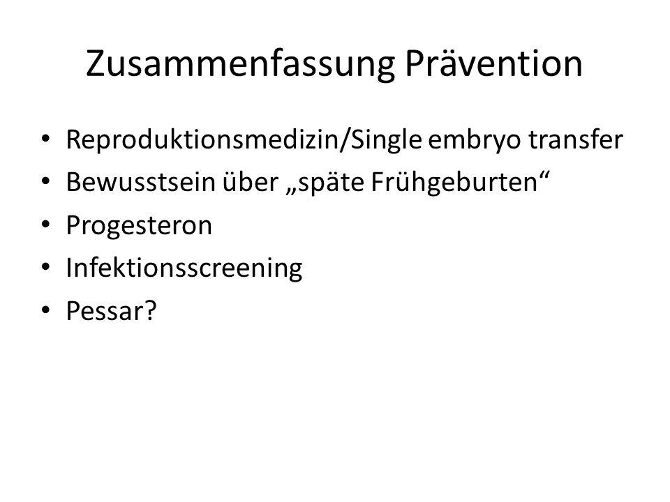 Zusammenfassung Prävention