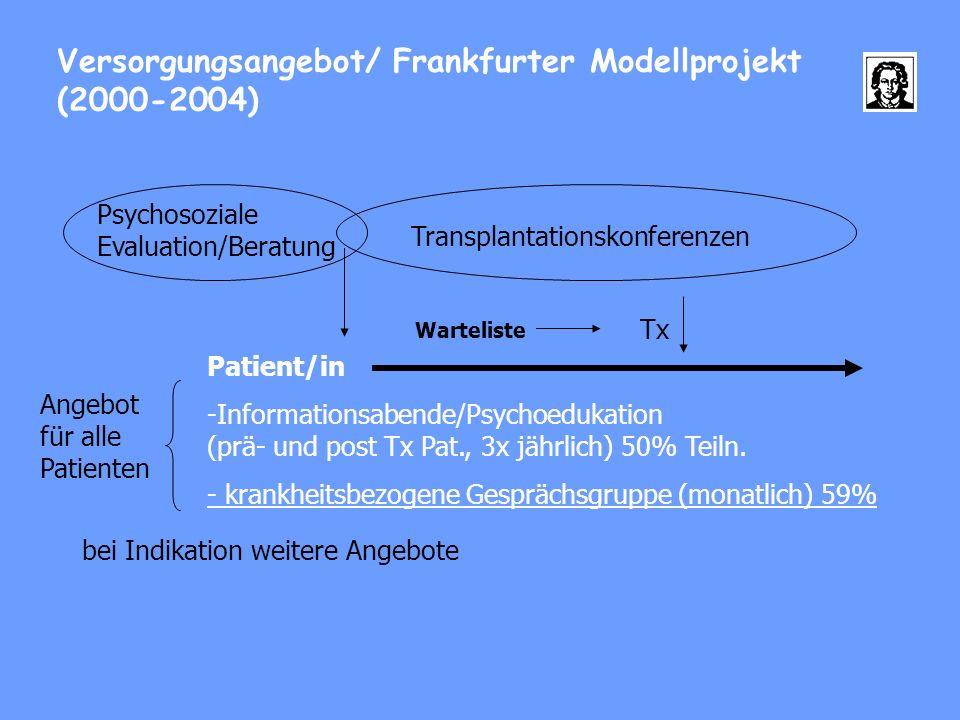 Versorgungsangebot/ Frankfurter Modellprojekt (2000-2004)