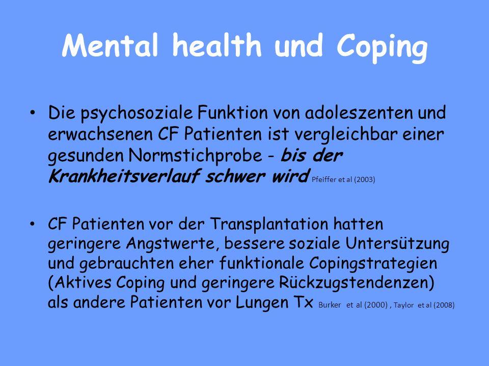 Mental health und Coping