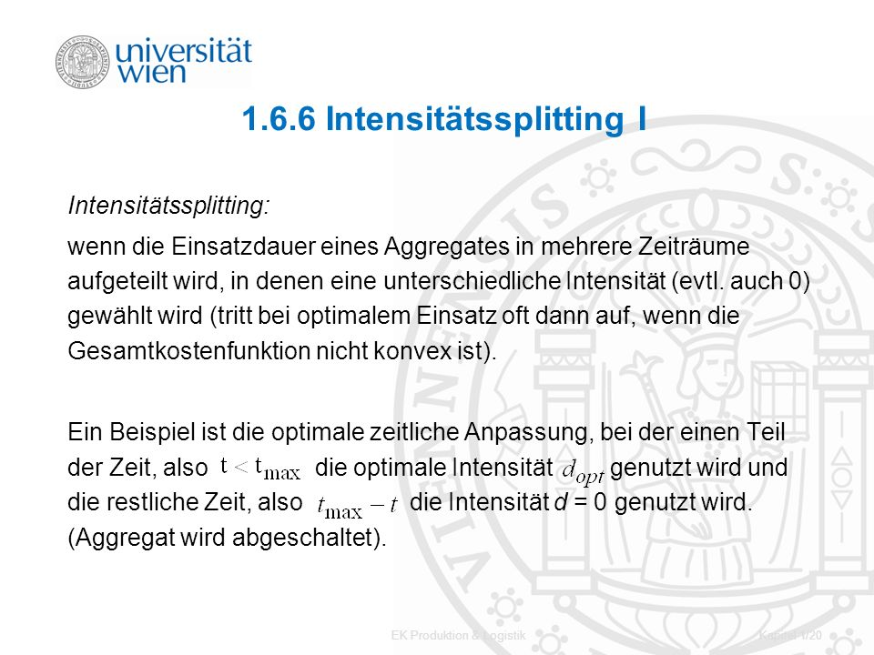 1.6.6 Intensitätssplitting I