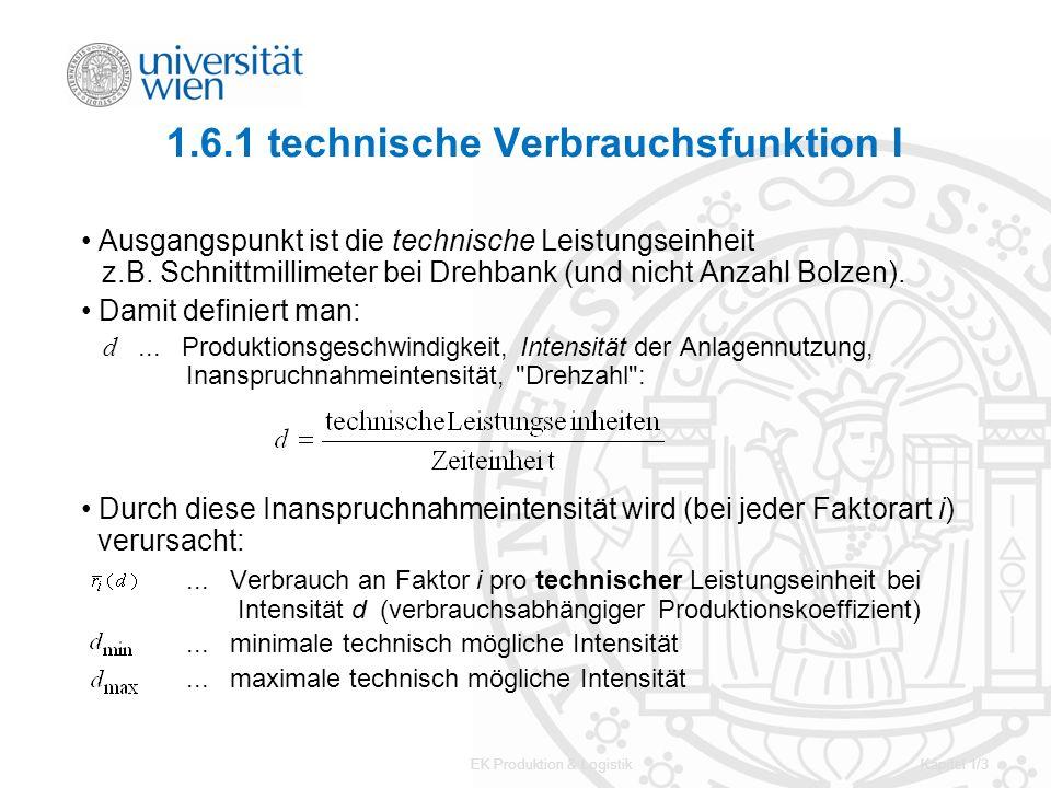 1.6.1 technische Verbrauchsfunktion I
