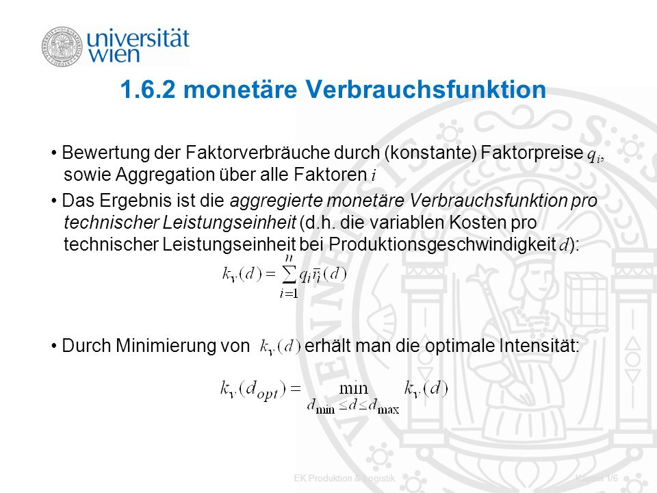 1.6.2 monetäre Verbrauchsfunktion