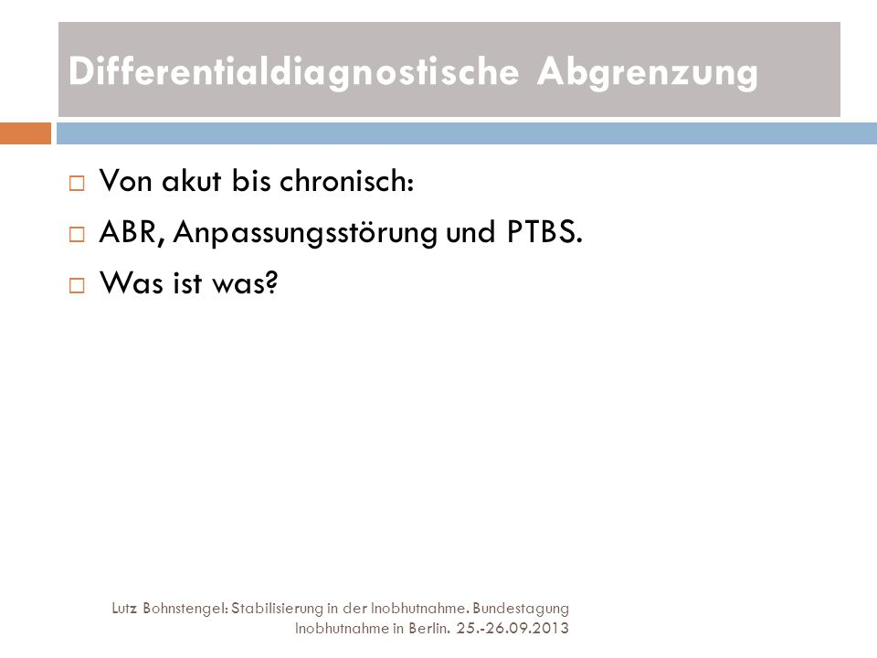 Differentialdiagnostische Abgrenzung