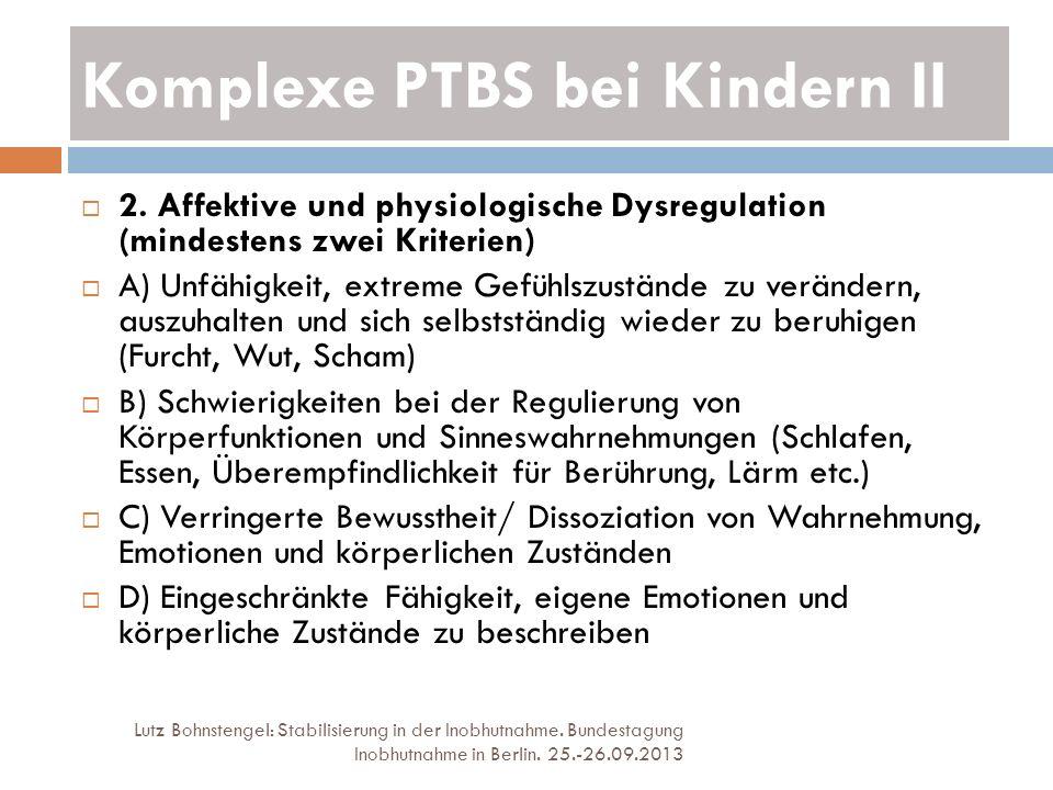 Komplexe PTBS bei Kindern II