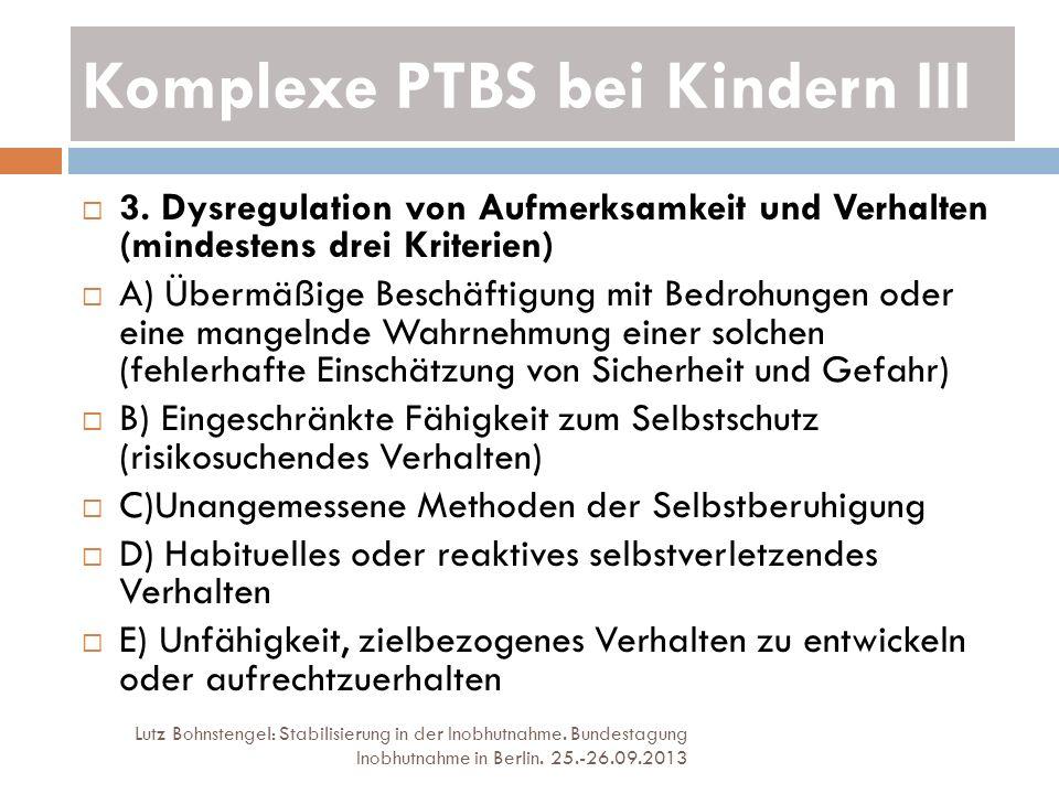 Komplexe PTBS bei Kindern III