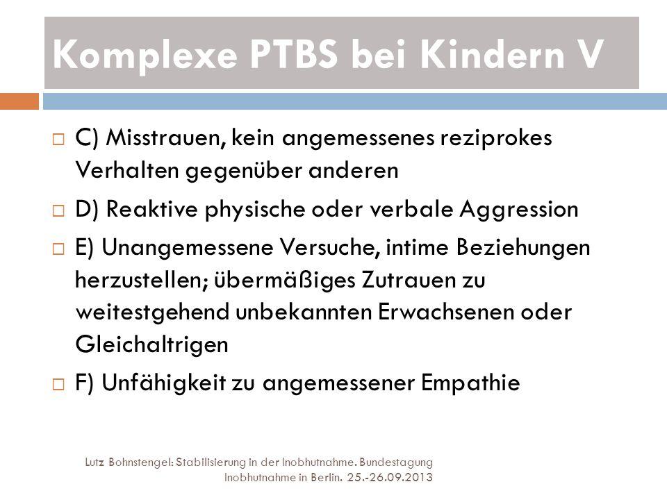 Komplexe PTBS bei Kindern V