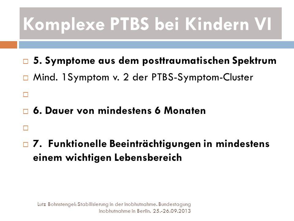 Komplexe PTBS bei Kindern VI