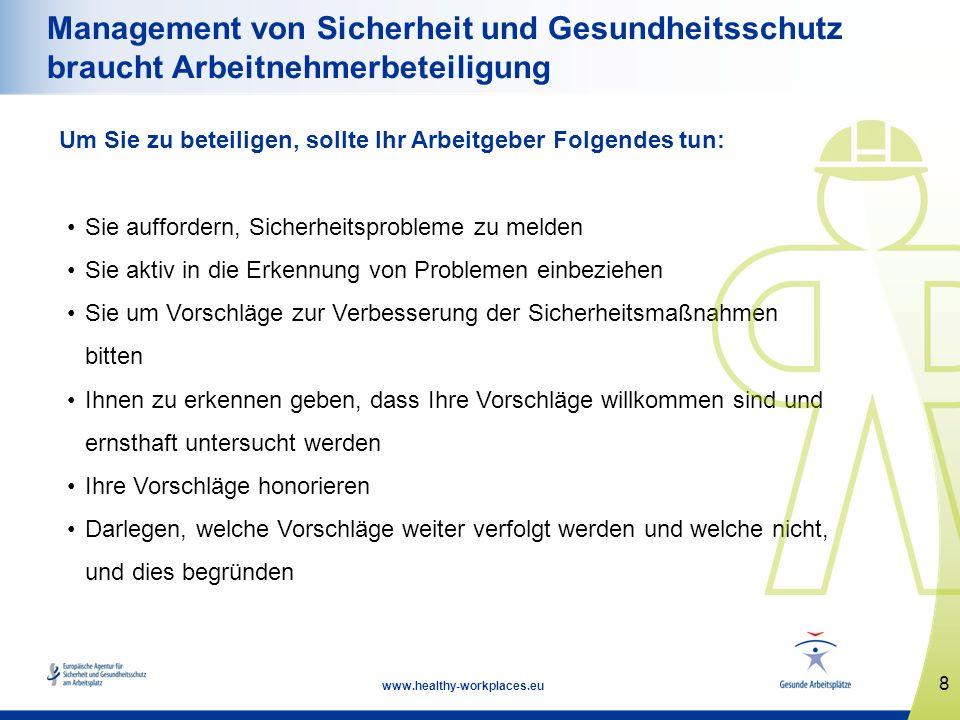 Management von Sicherheit und Gesundheitsschutz braucht Arbeitnehmerbeteiligung