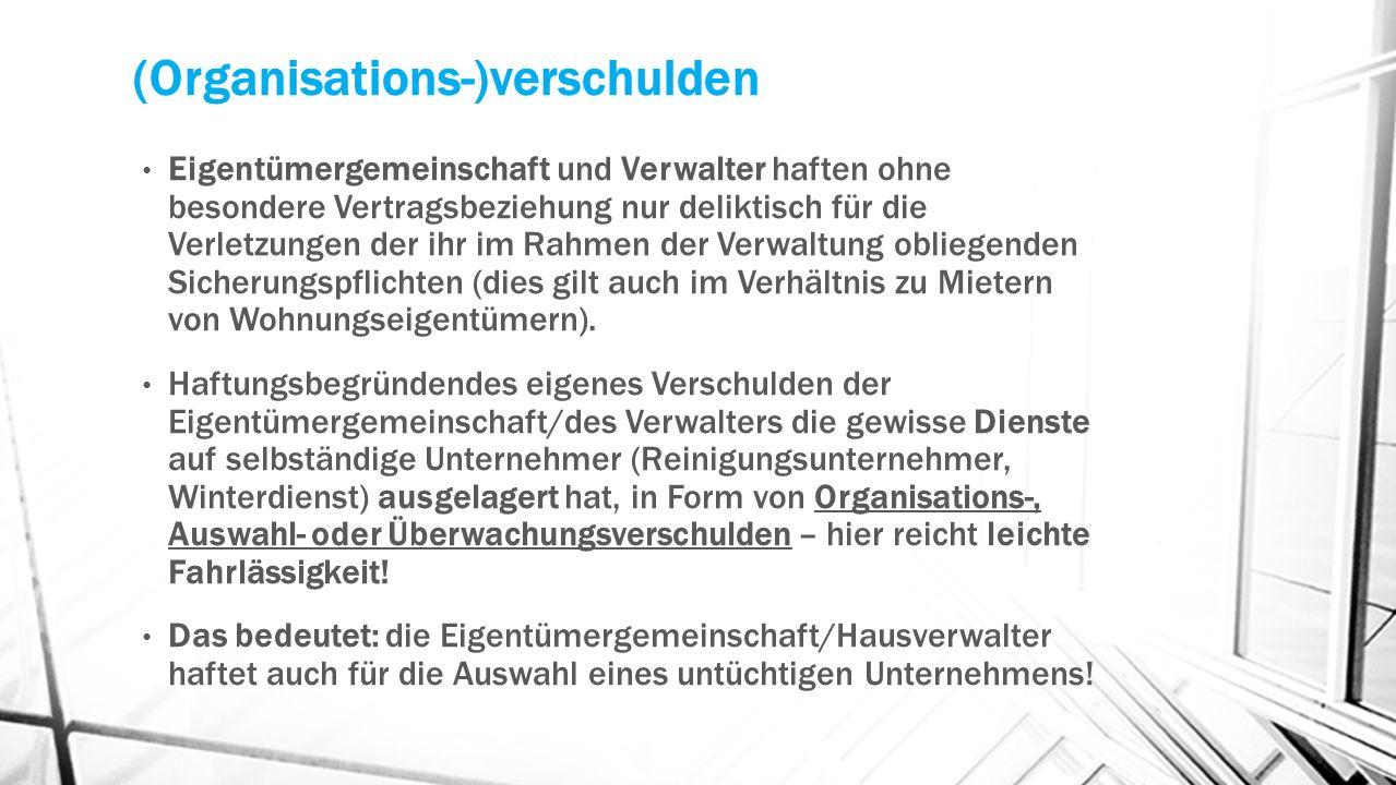 (Organisations-)verschulden