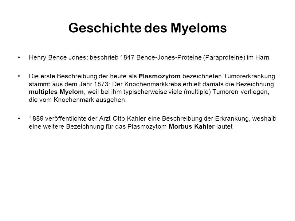 Geschichte des Myeloms