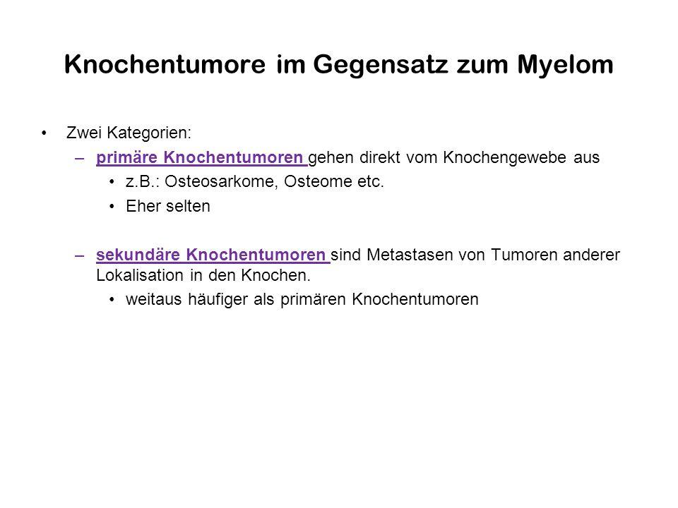 Knochentumore im Gegensatz zum Myelom