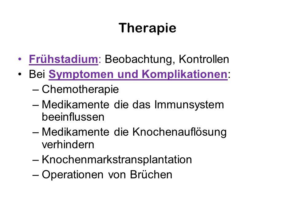 Therapie Frühstadium: Beobachtung, Kontrollen