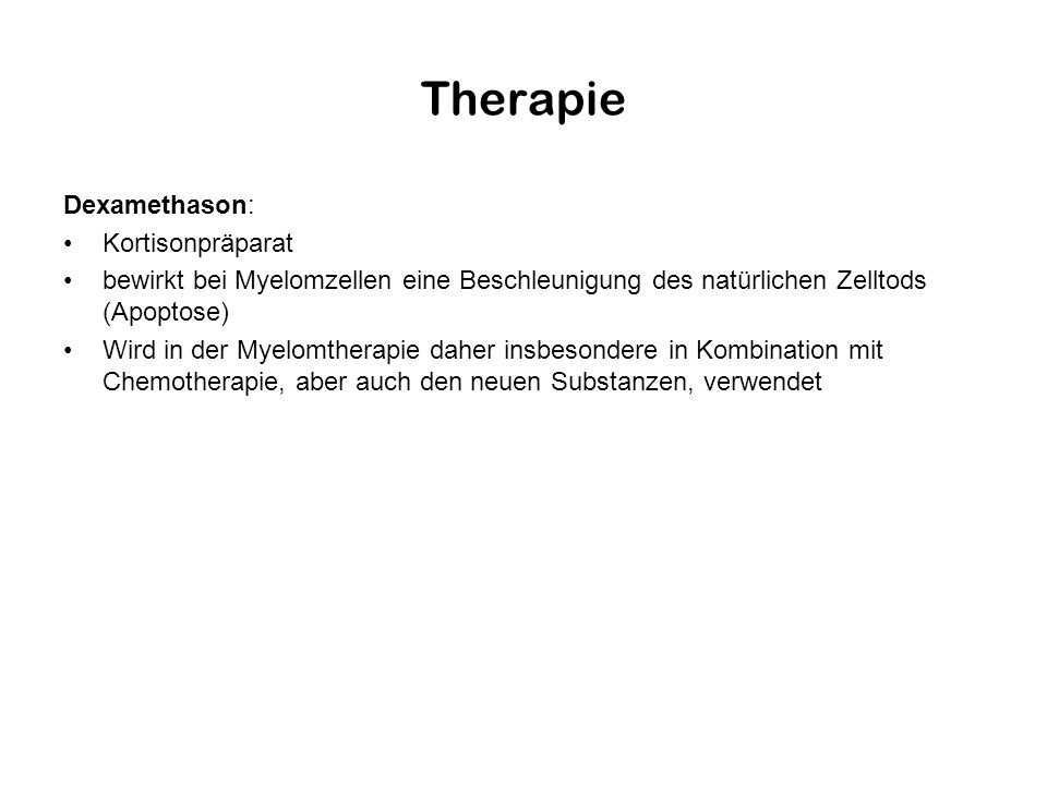 Therapie Dexamethason: Kortisonpräparat