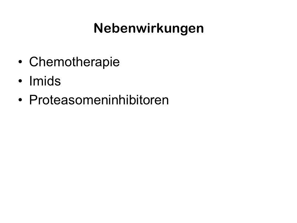 Nebenwirkungen Chemotherapie Imids Proteasomeninhibitoren