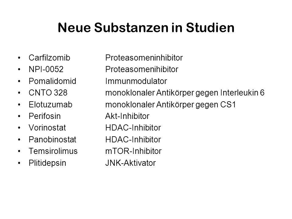Neue Substanzen in Studien