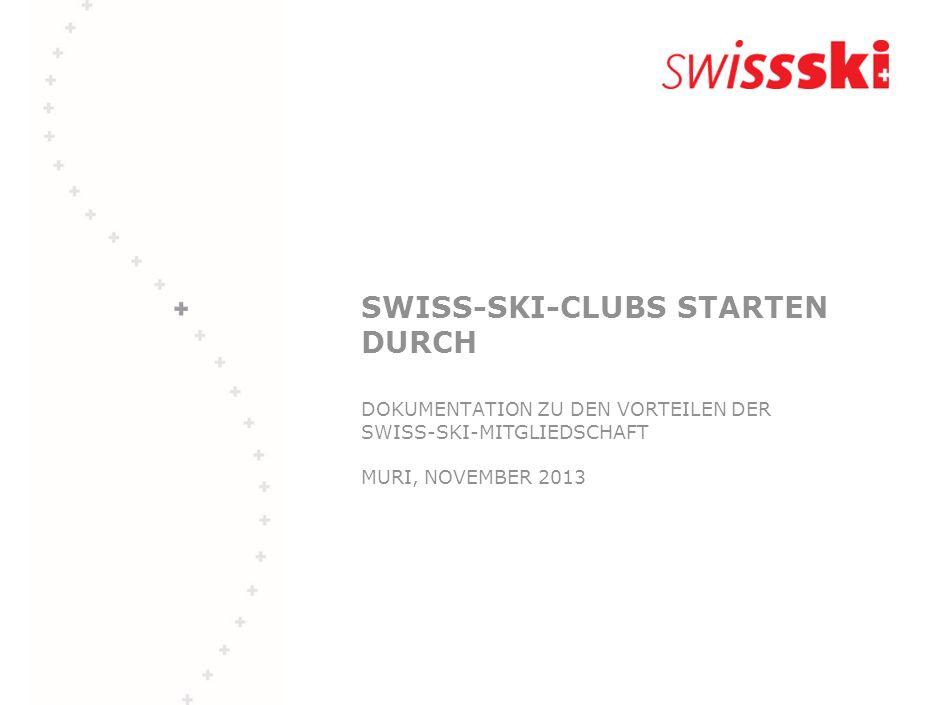 Template-handout SWISS-SKI-CLUBS STARTEN DURCH DOKUMENTATION ZU DEN VORTEILEN DER SWISS-SKI-MITGLIEDSCHAFT MURI, NOVEMBER 2013.