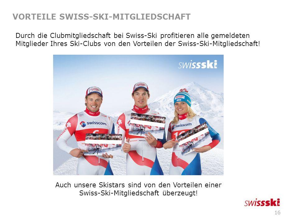VORTEILE SWISS-SKI-MITGLIEDSCHAFT
