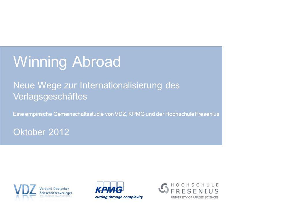 Winning Abroad Neue Wege zur Internationalisierung des Verlagsgeschäftes.