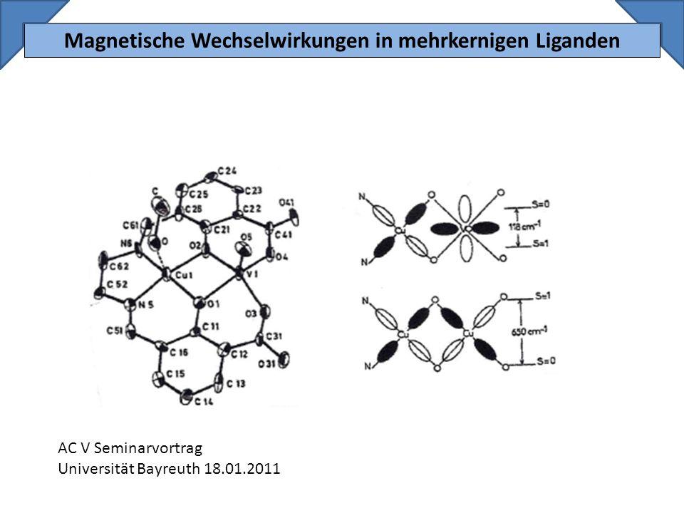 Magnetische Wechselwirkungen in mehrkernigen Liganden