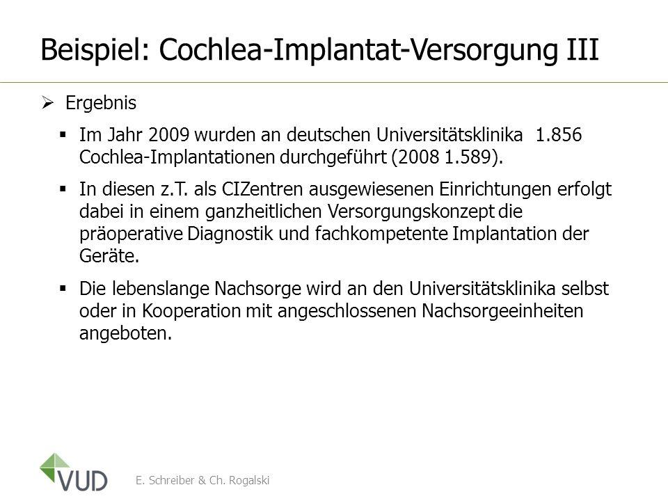 Beispiel: Cochlea-Implantat-Versorgung III