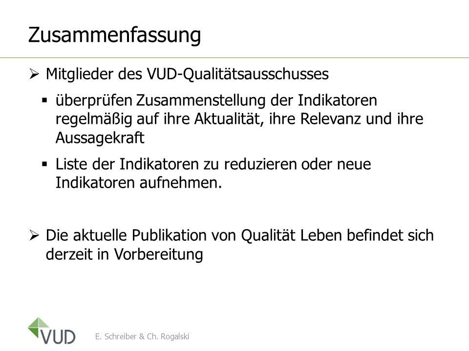 Zusammenfassung Mitglieder des VUD-Qualitätsausschusses