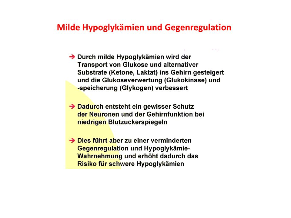 Milde Hypoglykämien und Gegenregulation