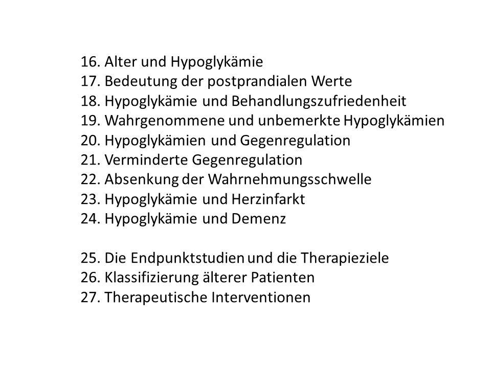 16. Alter und Hypoglykämie