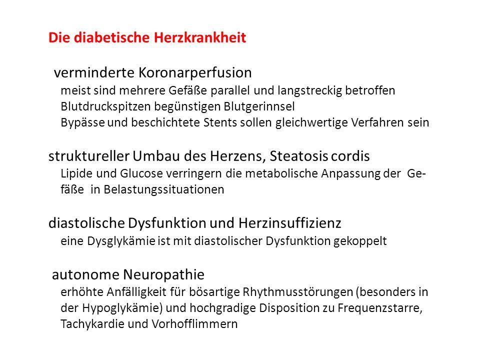 Die diabetische Herzkrankheit