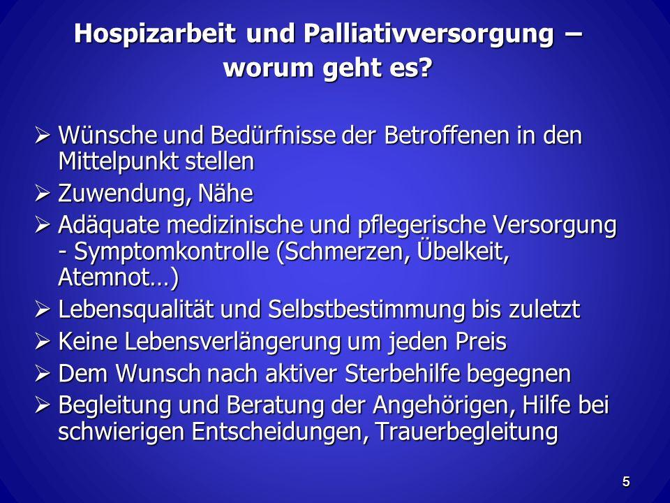 Hospizarbeit und Palliativversorgung –