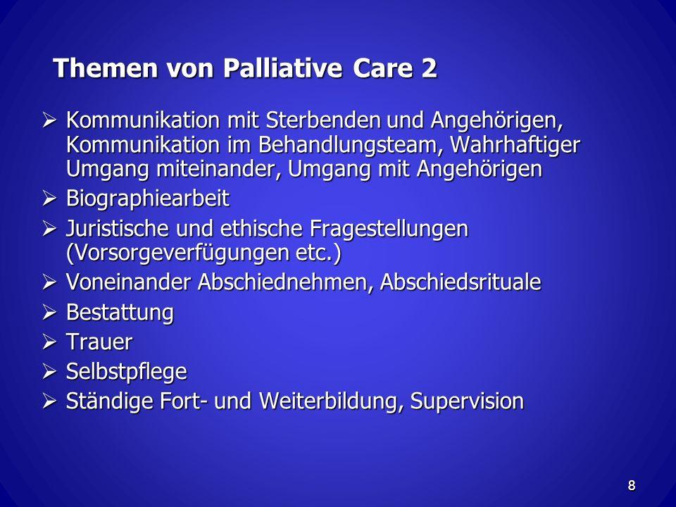 Themen von Palliative Care 2