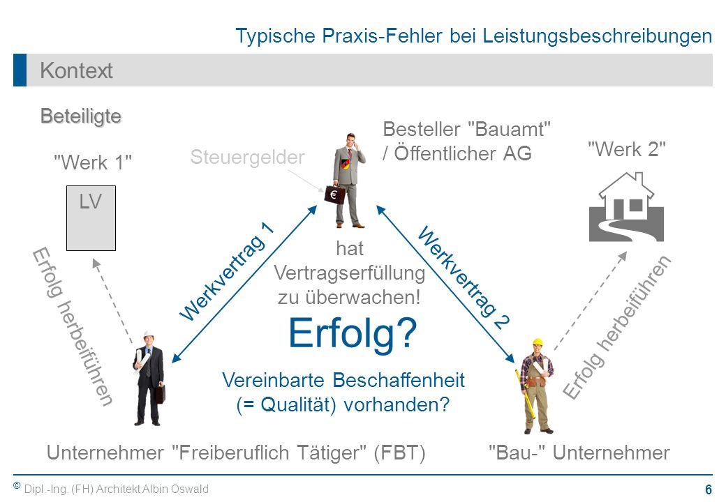 H Erfolg Kontext Beteiligte Besteller Bauamt / Öffentlicher AG