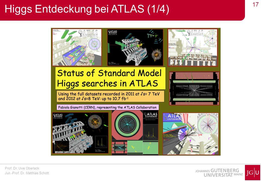 Higgs Entdeckung bei ATLAS (1/4)