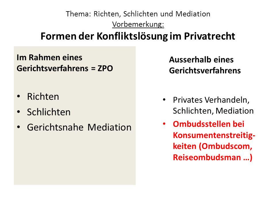 Gerichtsnahe Mediation