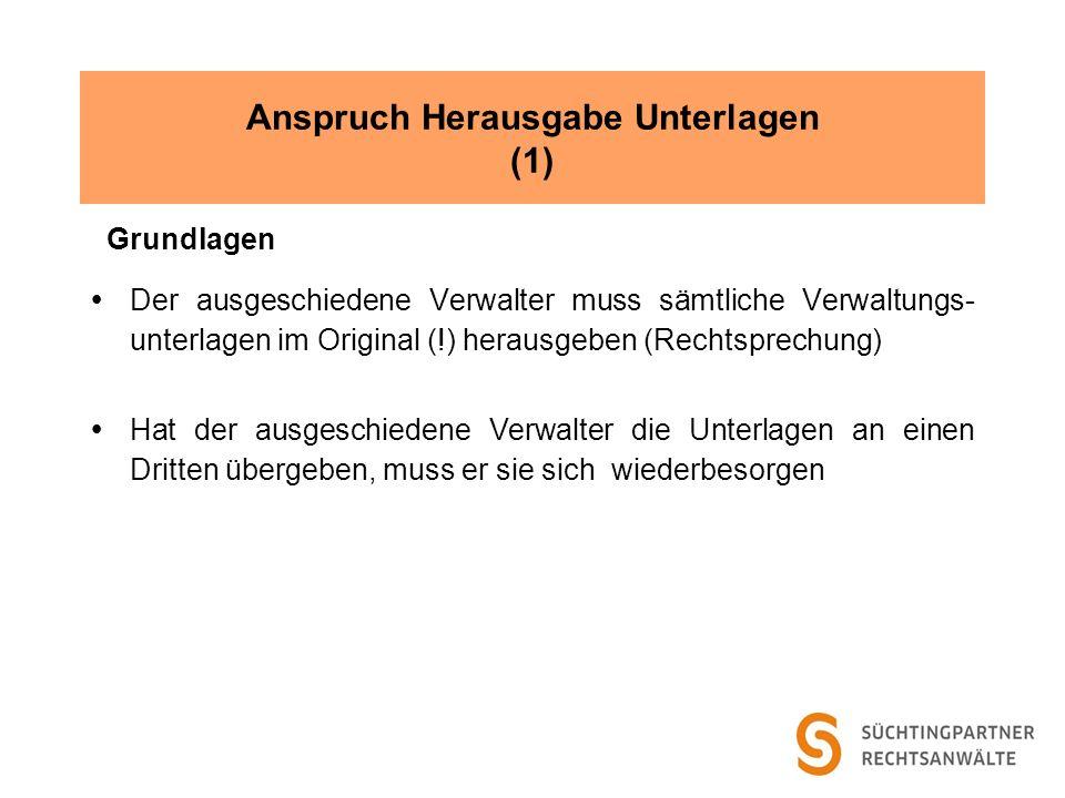 Anspruch Herausgabe Unterlagen (1)