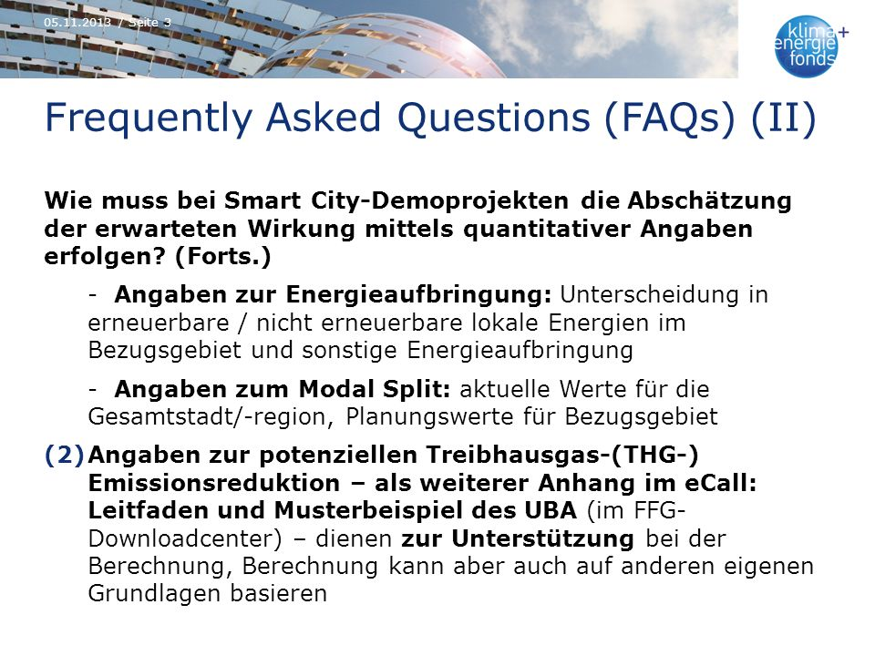 Frequently Asked Questions (FAQs) (II)