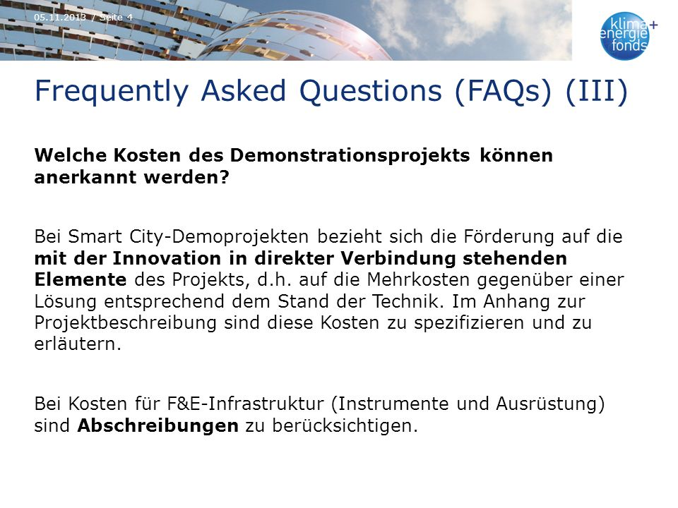 Frequently Asked Questions (FAQs) (III)