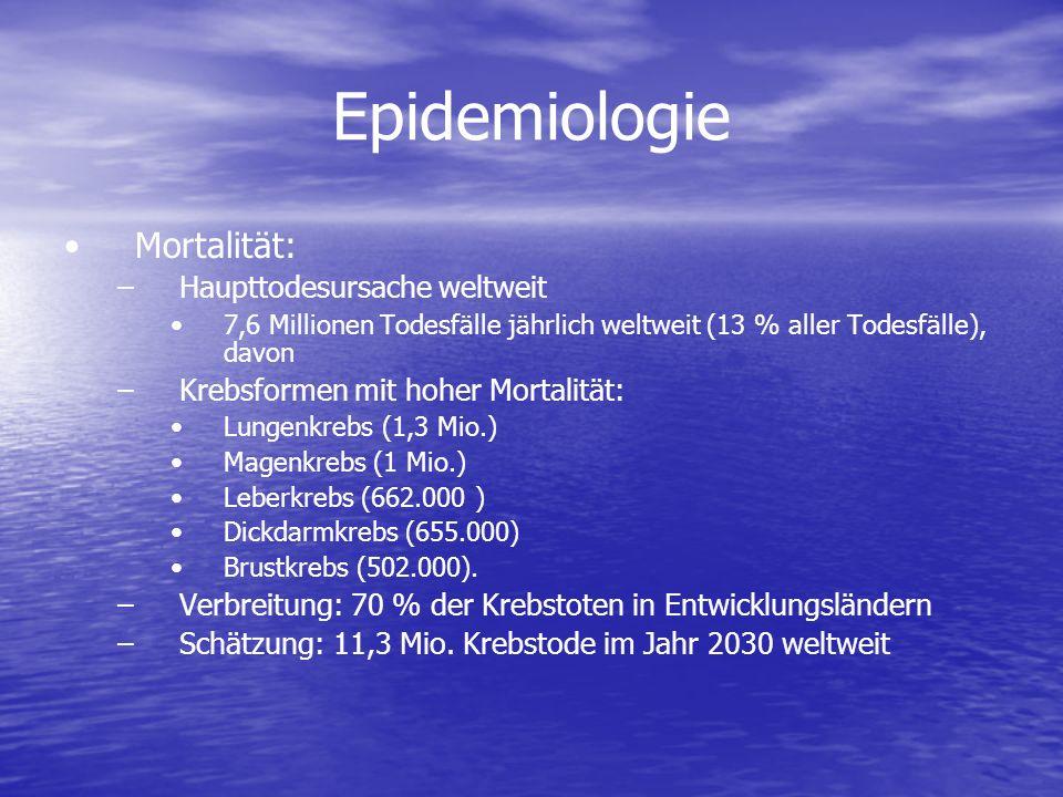 Epidemiologie Mortalität: Haupttodesursache weltweit