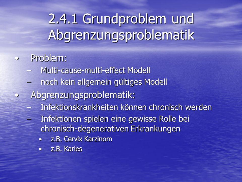 2.4.1 Grundproblem und Abgrenzungsproblematik