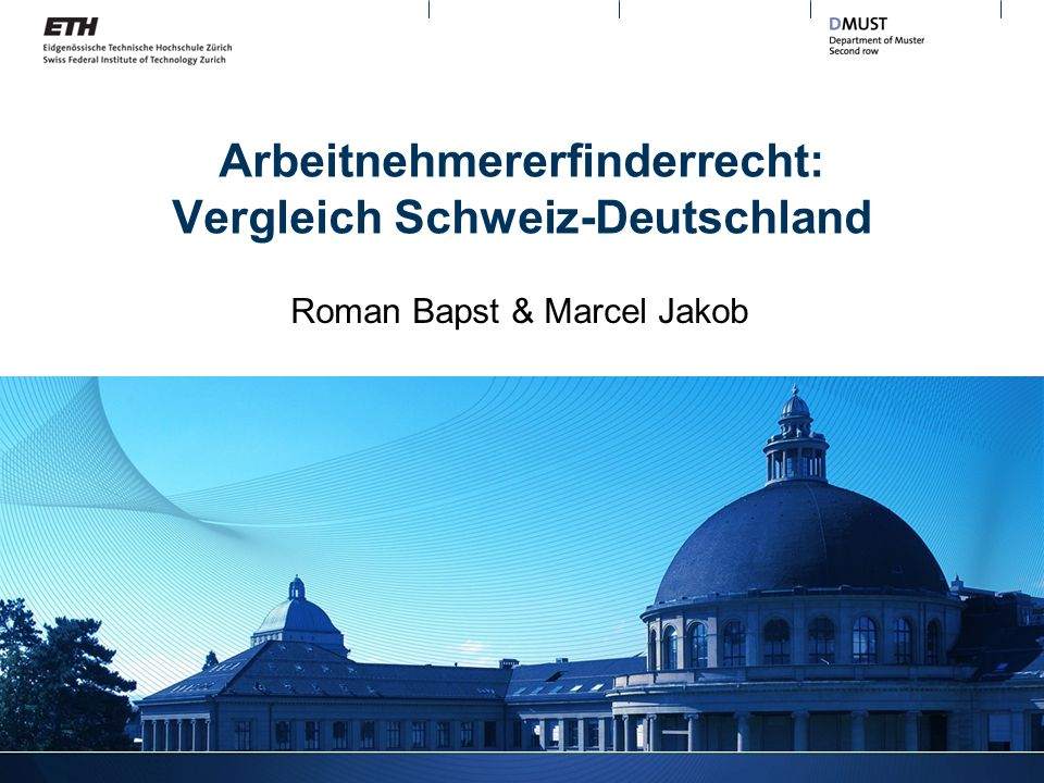Arbeitnehmererfinderrecht: Vergleich Schweiz-Deutschland