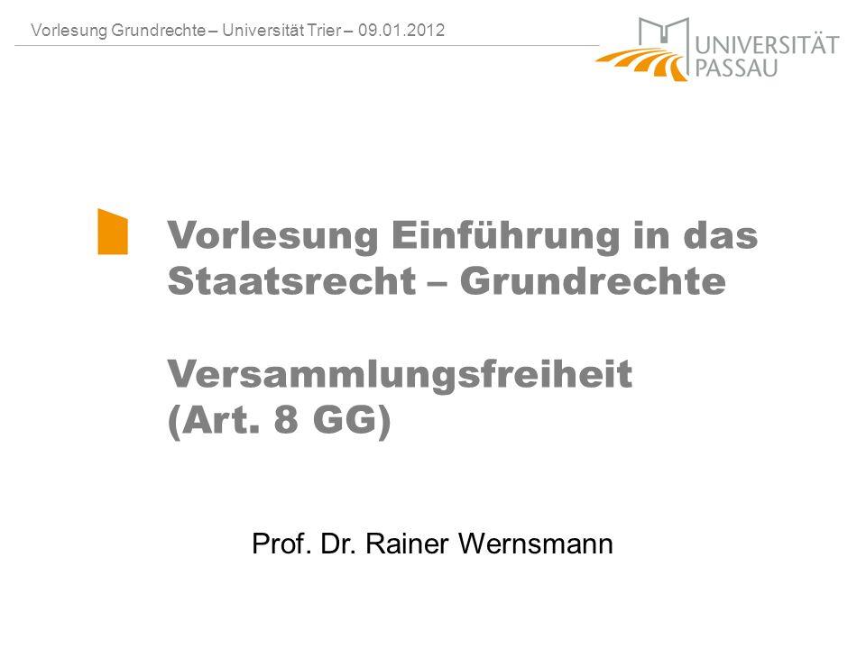 Prof. Dr. Rainer Wernsmann