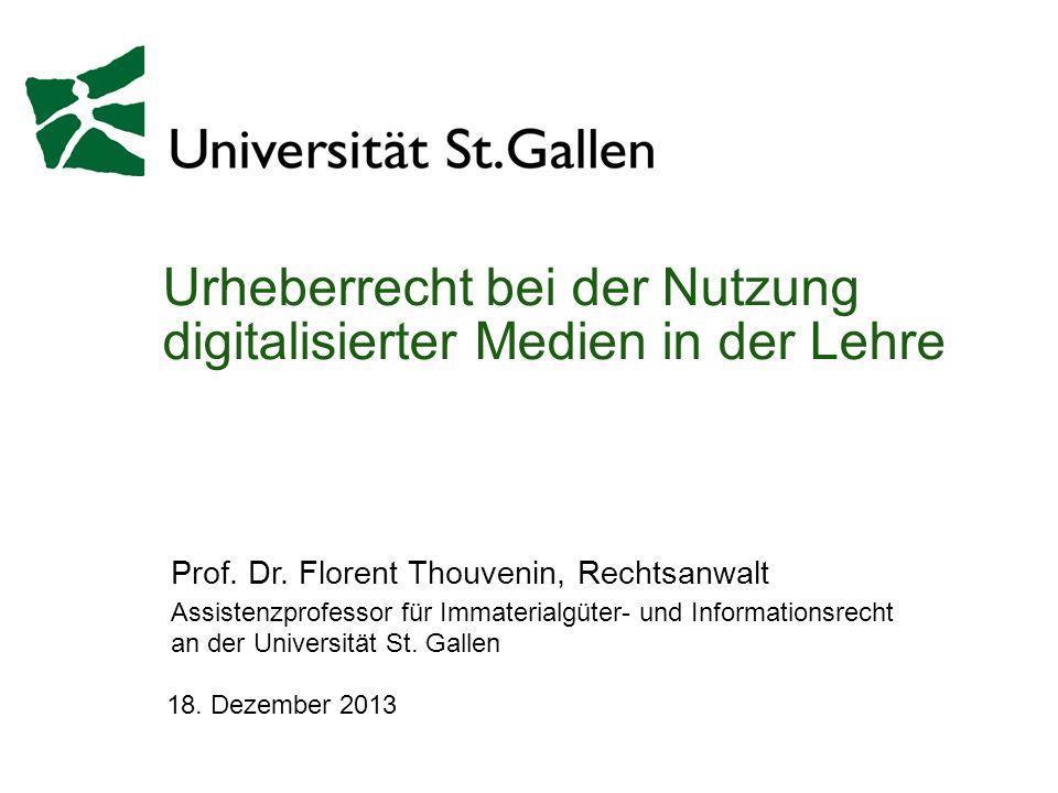 Urheberrecht bei der Nutzung digitalisierter Medien in der Lehre