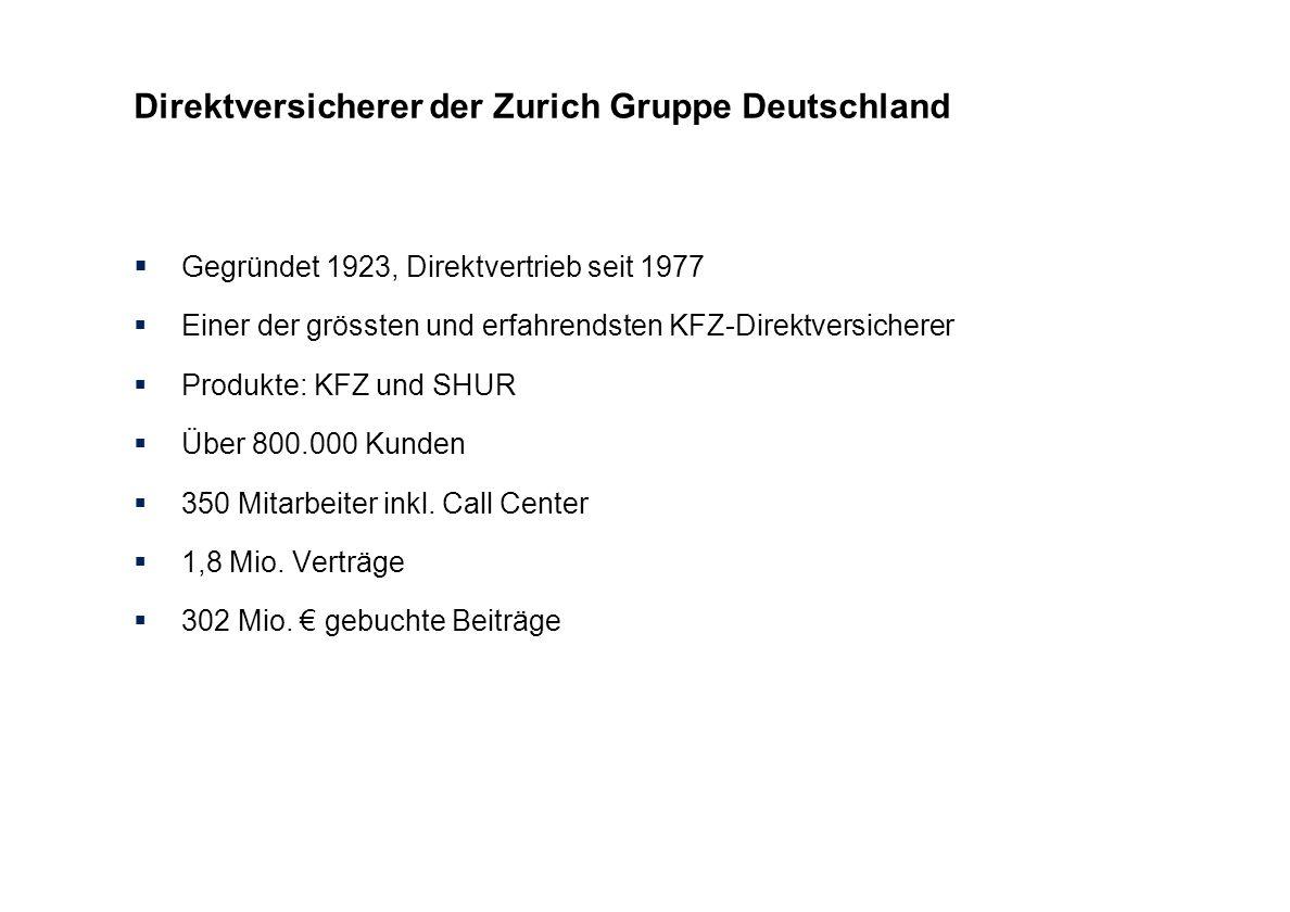 Direktversicherer der Zurich Gruppe Deutschland