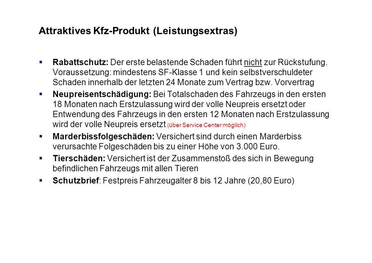 Attraktives Kfz-Produkt (Leistungsextras)