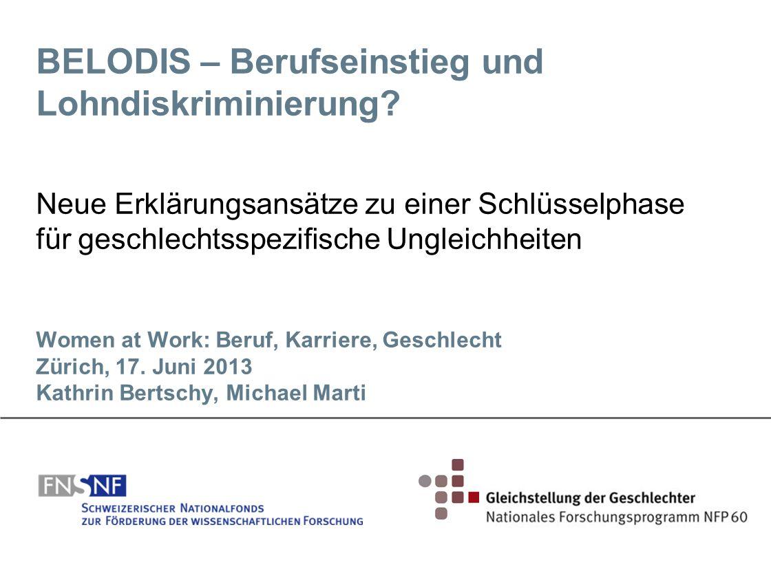 BELODIS – Berufseinstieg und Lohndiskriminierung