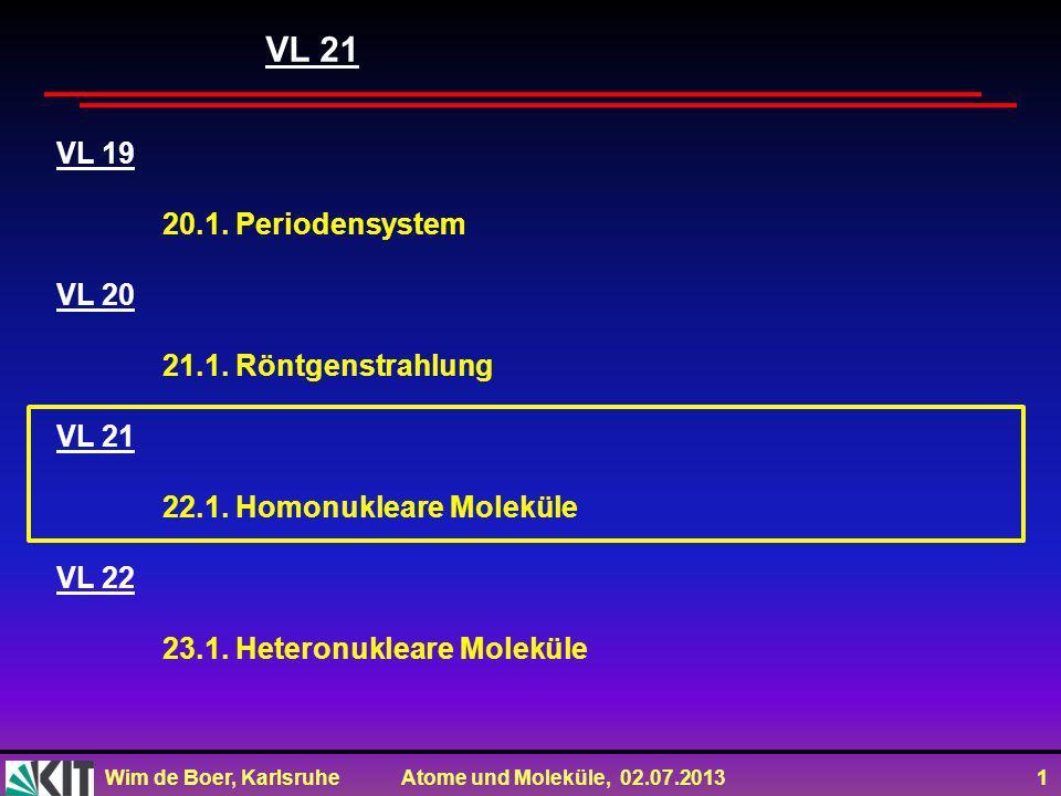 VL 21 VL 19 20.1. Periodensystem VL 20 21.1. Röntgenstrahlung VL 21